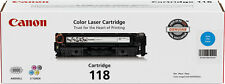 Genuine Canon 118 Cyan Toner Cartridge (2661B001) - Brand New, Factory Sealed