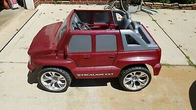 fisher price power wheels cadillac escalade ext ride on ebay ebay