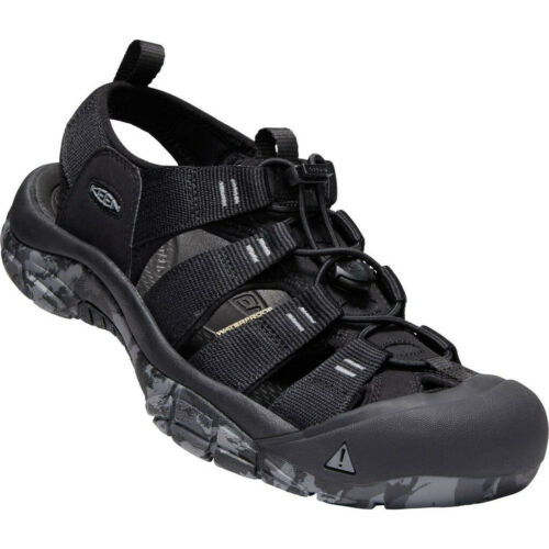 Keen Newport H2 Sandals Men Black//Swirl Outsole 2019 Sandalen schwarz