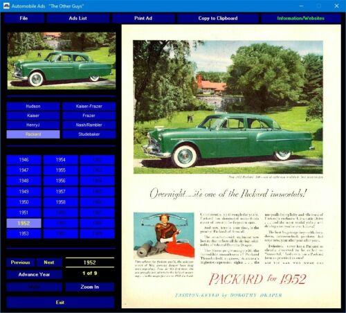 HenryJ Hudson Kaiser-Frazer Nash Packard Studebaker ads