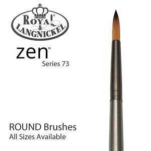 Royal & Langnickel Zen Alle Mischtechnik Farben Bürste S73 - Rund (10 Sizes )