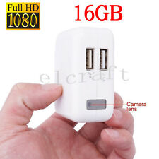 16GB AC Power Adapter Motion Detection Hidden Mini Spy Camera Camcorder 1080P DV