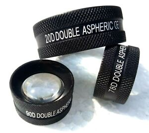 20D-90D-and-78D-Non-Contact-Aspheric-Slit-Lamp-Lens-Set-of-Three-Free-Shipping