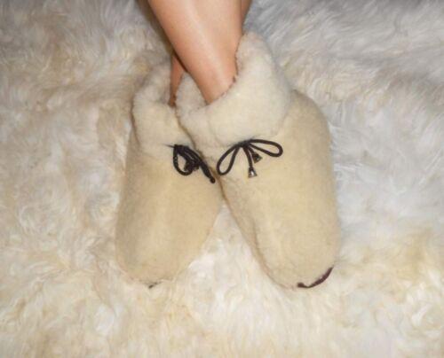 Women/'s sheep Wool SLIPPERS Stylish fashion felt Boots Sheepskin Snuggs Valenki