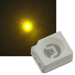 100 gelbe SMD LEDs PLCC2 / 3528, smds led gelb giallo geel