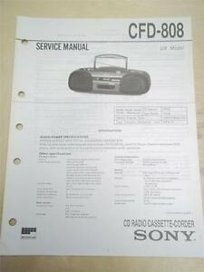 Sony Service Manual~CFD-808 CD Radio Cette-Corder Boombox ...