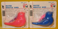 2 Water Whistle Birds Educational / Party Favors Toys - Colors: Pink & Blue