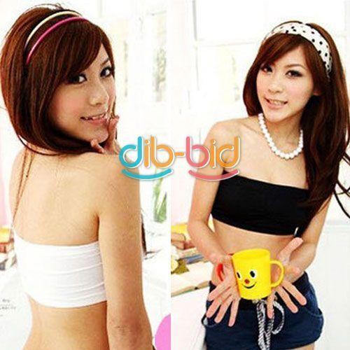 Ladies Strapless Crop Top Vest Bra Bandeau Boob Tube Brassiere White Black SSAU