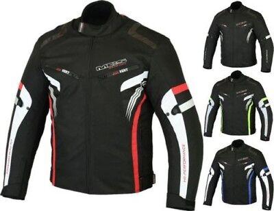 Veste courte pour homme MBSmoto MJ22 Max Sports Racing Racing Textile avec protecteur Noir, 2XL