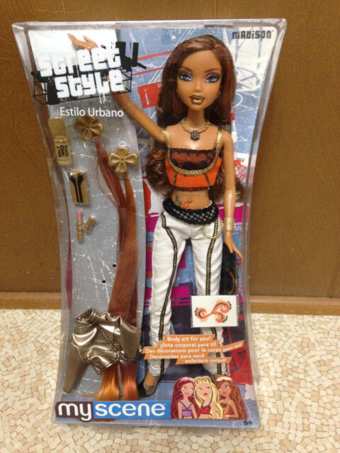 Barbie My Scene Street Style Madison Westley Doll Tattoo Belly Ring Rare
