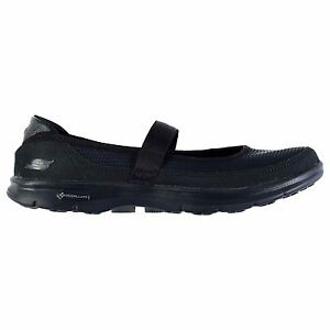 Skechers Womens Go Step Org Trainers Knitted Upper Padded Slip On Strap Shoes