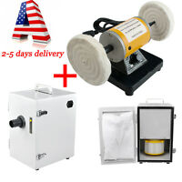 Dental Poliser Polishing Polishing Machine Lath Desktop +digital Dust Collector