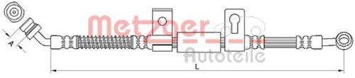 METZGER Bremsschlauch Bremsleitung Vorne rechts 4110831