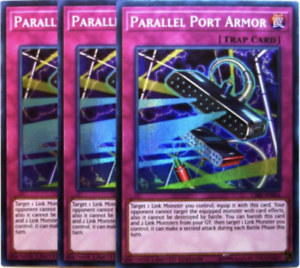 3x YUGIOH CODE DUELIST CIBR-ENSE SE Parallel Port Armor SUPER PRESELL