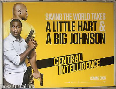 Cinema Poster Central Intelligence 2016 Left Quad Dwayne Johnson Kevin Hart Ebay