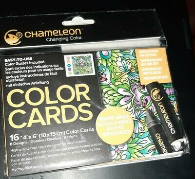 "Nature 4x6/"" Chameleon 16 pack of Colour Cards"