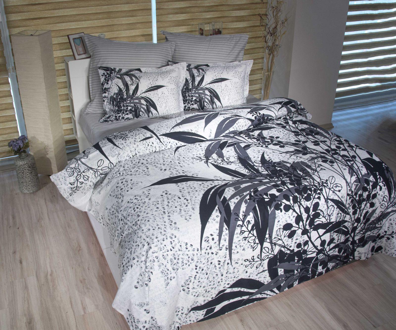 Bettwäsche 3D 220x240 cm Bettgarnitur Bettbezug 100% Baumwolle Kissen 6 tlg AKWE
