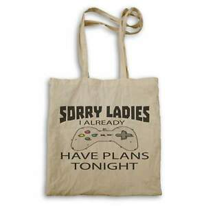 Sorry-I-Have-plans-Tonight-Gamer-Gaming-Controller-Tote-bag-ii125r