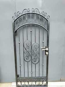 Details about Wrought Iron pedestrian/side gate fit an opning  95 - 1 0  available now