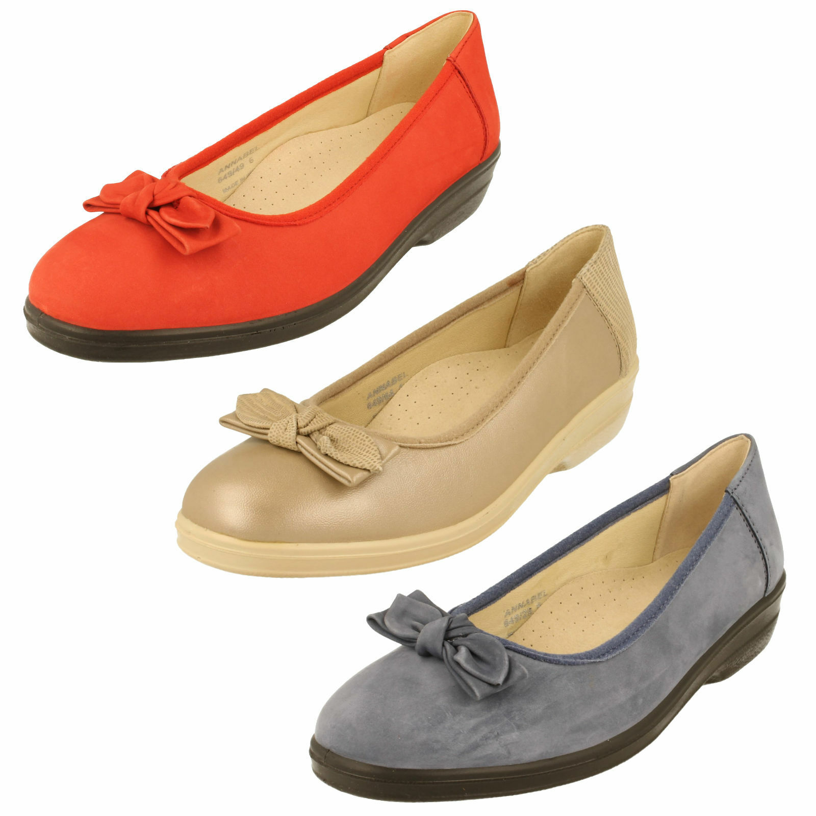 LADIES PADDERS EE FITTING BALLET PUMPS - ANNABEL