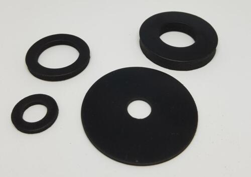 2 X Choisissez propre Taille EPDM Caoutchouc Rondelle 2 mm THK jusqu/'à diamètre 30 mm