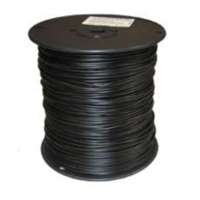 18 Gauge In-Ground Pet Wire 1000 Foot Spool Solid Wire nero