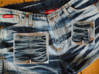 Jiggy Hose Hot Pants Jeans Model over Damen blue denim Gr 28 Neu