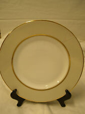 Wedgwood Martha Stewart Collection Ribbon Stripe Gold Accent Plate  New