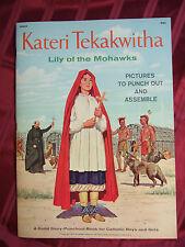Vintage Catholic Kateri Tekakwitha book Indian Saint Punchout Paper Doll - MINT