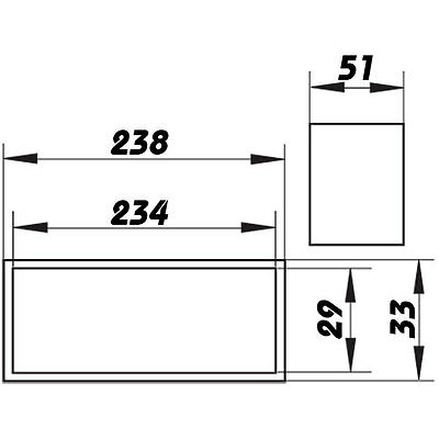 Verbindungsstück Flachkanal, Rohrverbinder ultraflach, Abluftrohr, Lüftungsrohr