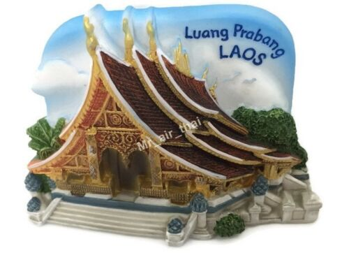 Luang Prabang Laos SOUVENIR RESIN 3D FRIDGE MAGNET SOUVENIR TOURIST GIFT