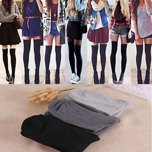 f60555d7a5d Thigh High Socks Sexy Women Girl Over Knee Socks Fashion Cotton ...