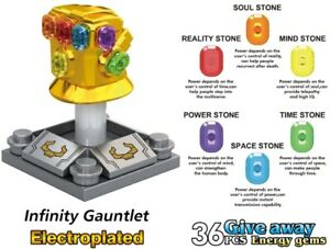 Avenger-Gauntlet-Chrome-Infinity-36Pcs-Stones-Iron-Man-Custom-Lego-Minifigures