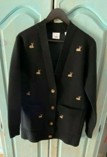 Burberry Size XS Deer Motif Wool Cashmere Sweater