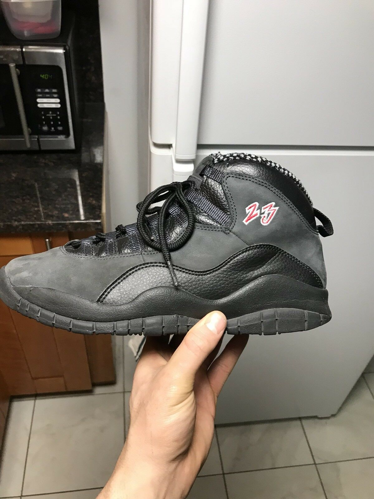 Jordan Retro 10 Shadow 9.5 Grey Black