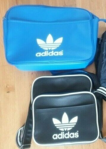 2 Vintage Adidas Shoulder Bags Bundle Unisex Messe