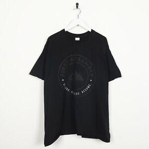 "VINTAGE USA impression première Assemblée ""Team"" Big Logo T Shirt Tee Black | XL"