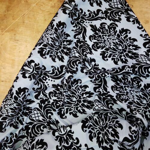 Duck Egg Bleu Damassé Velours Coton Panama Upholstery recouvert de tissu chaises