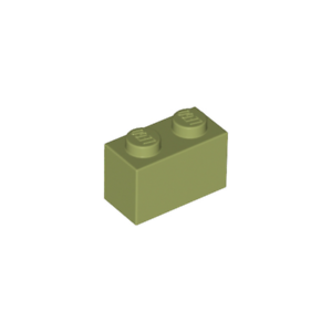 Lot x2 Lego 3004 Brique VERT OLIVE GREEN Brick 1x2-6024722