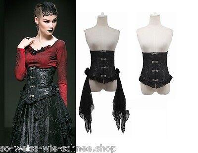 Punk Rave Bluse Gothic Korsett & Brosche Steampunk Victorian Corset Pin Up Y542