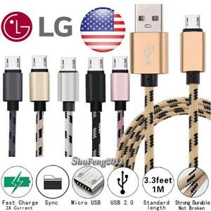 Details about Micro USB Charging Phone Data Sync Charger Cable For LG Aristo