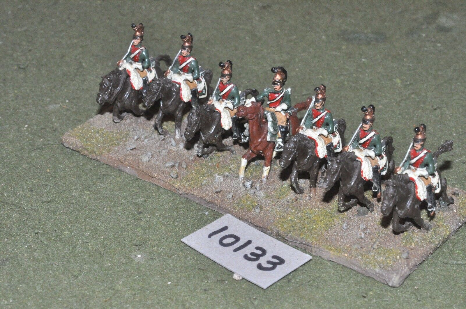 25mm napoleonic   french - dragoons 7 cavalry - cav (10133)