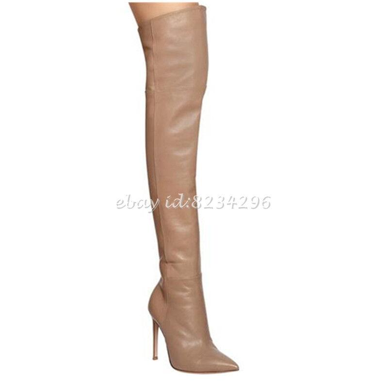 Overknee Stiefel Damen Sexy Stilettoabsatz Pumps High Heels Spitz Zehe Zehe Zehe Schuhe OL    Auf Verkauf    Realistisch  e7d626