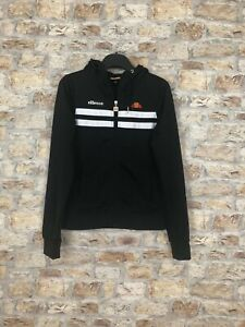 354485d3 Details about ELLESSE BLACK WOMENS POLYESTER TRACK TOP HOODED ZIP UP JACKET  SIZE UK 6