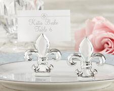 Shiny Silver Fleur-de-Lis Place Card Holder Wedding Favor 32pcs Free shipping