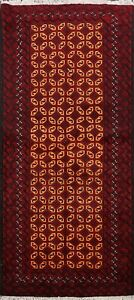 Tribal-Balouch-Geometric-Afghan-Oriental-Area-Rug-Hand-knotted-Wool-Carpet-3-039-x6-039