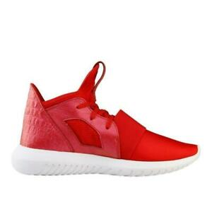 buy popular 0f372 b1163 Details about Womens ADIDAS TUBULAR DEFIANT Red Trainers AQ6824