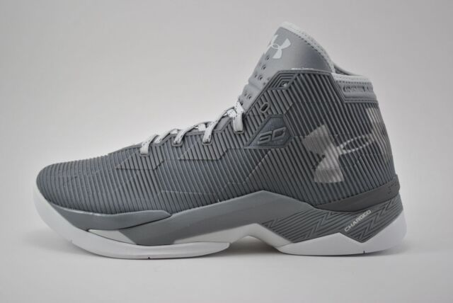 sports shoes a5aeb edf7f Under Armour UA Curry 2.5 Basketball Shoes Size 8.5 - 15 Grey White  1274425-040