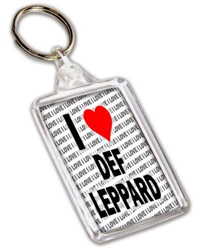 Geburtstag Geschenk Weihnachten I Love Def Leppard Schlüsselring