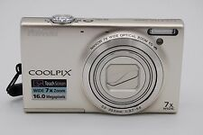 Nikon Coolpix S6100 16.0MP 3'' SCREEN 7X DIGITAL CAMERA WITH BATTERY